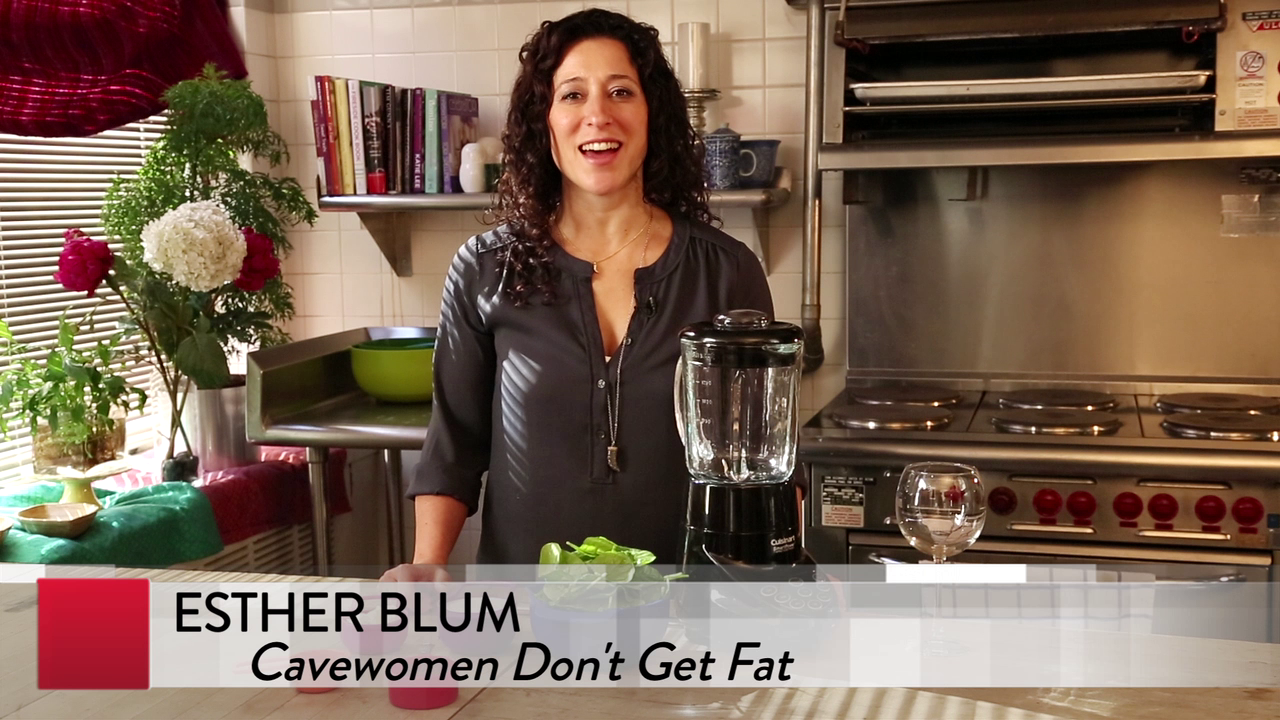 In the Kitchen with CAVEWOMEN DON'T GET FAT author Esther Blum