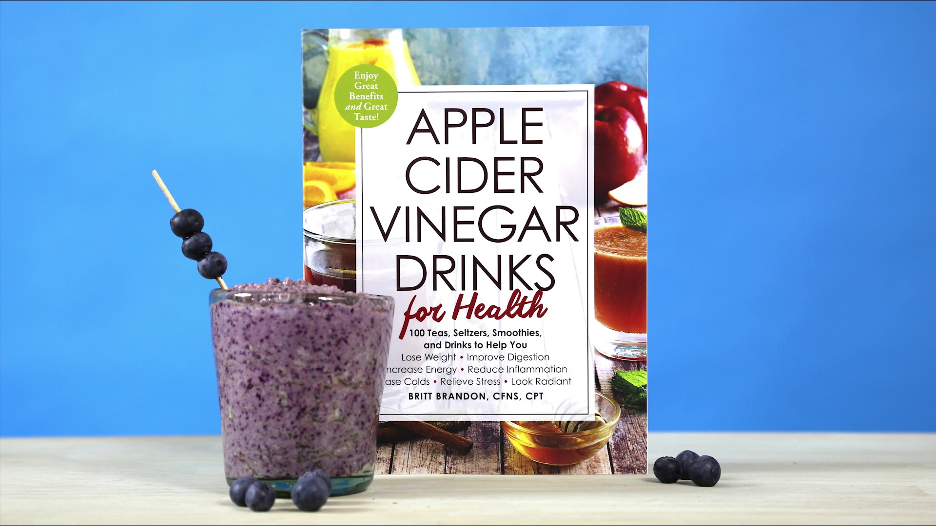 Make Your Own Blueberry Muffin Smoothie With Apple Cider Vinegar!