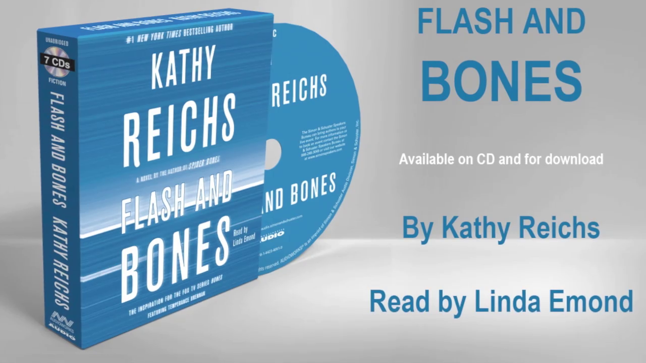 Kathy Reichs on FLASH AND BONES audiobook