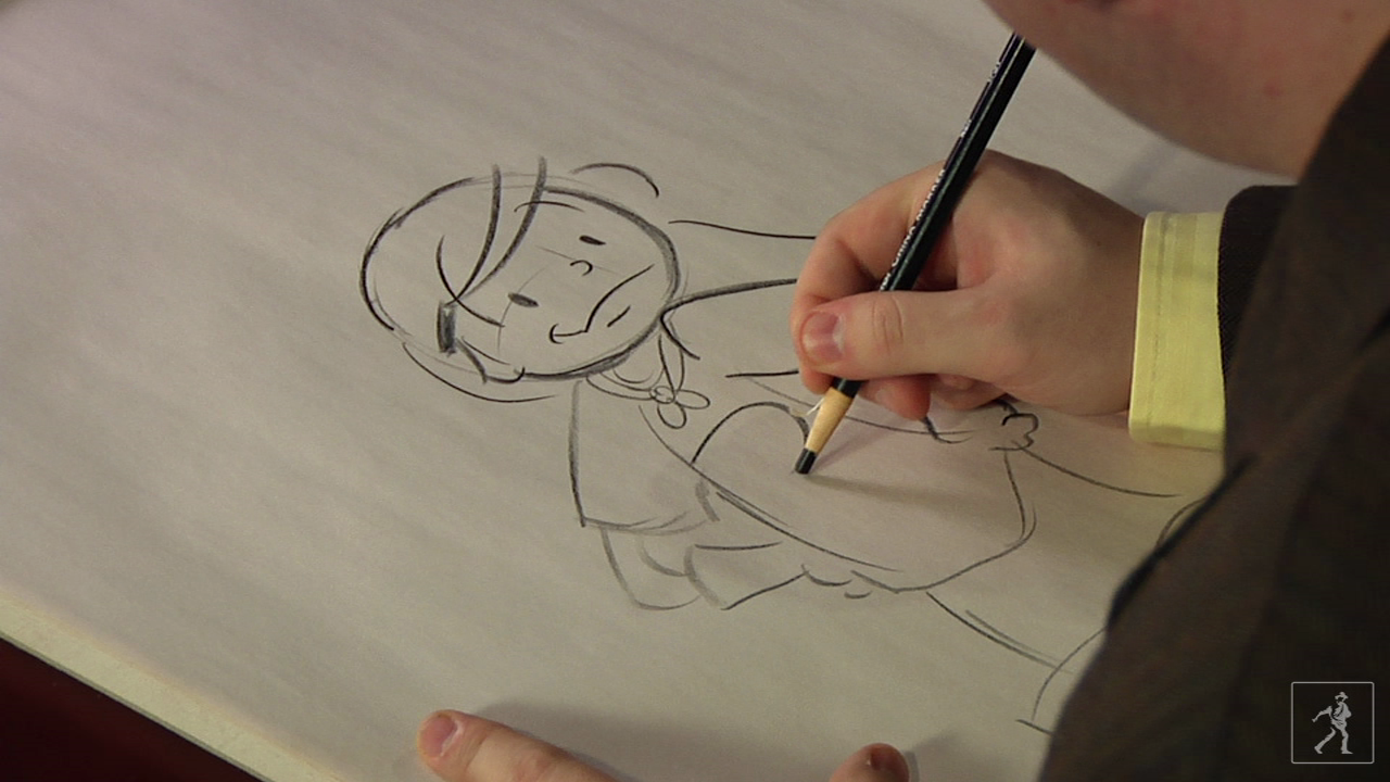 Illustrator Jimmy Gownley draws Superhero Amelia