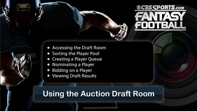 Using the Auction Draft Room