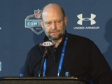 Brad Childress at the NFL Combine