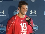 Tim Tebow at the NFL Combine