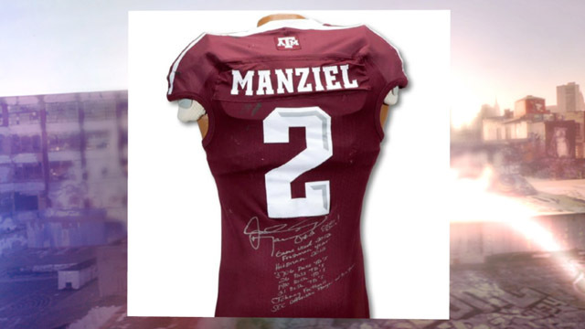 Manziel Heisman jersey up for auction