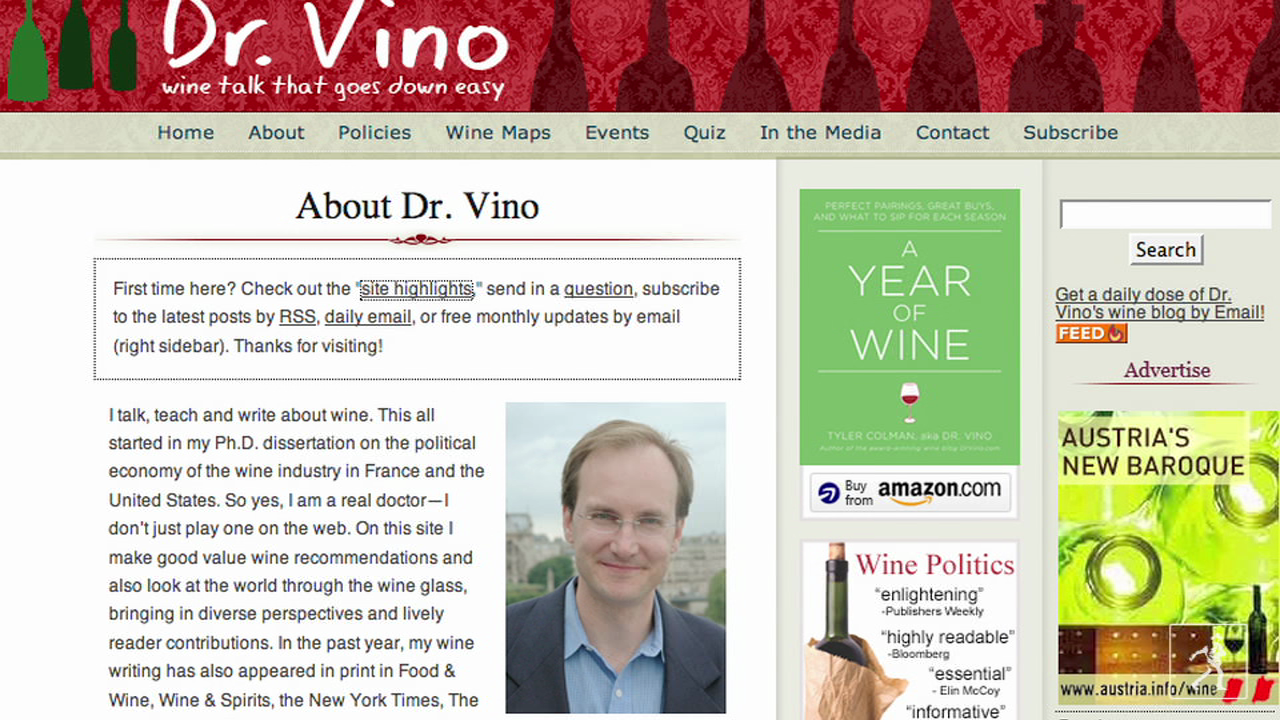 Author and Wine Specialist Tyler Colman Discusses  His New Book  Year of Wine