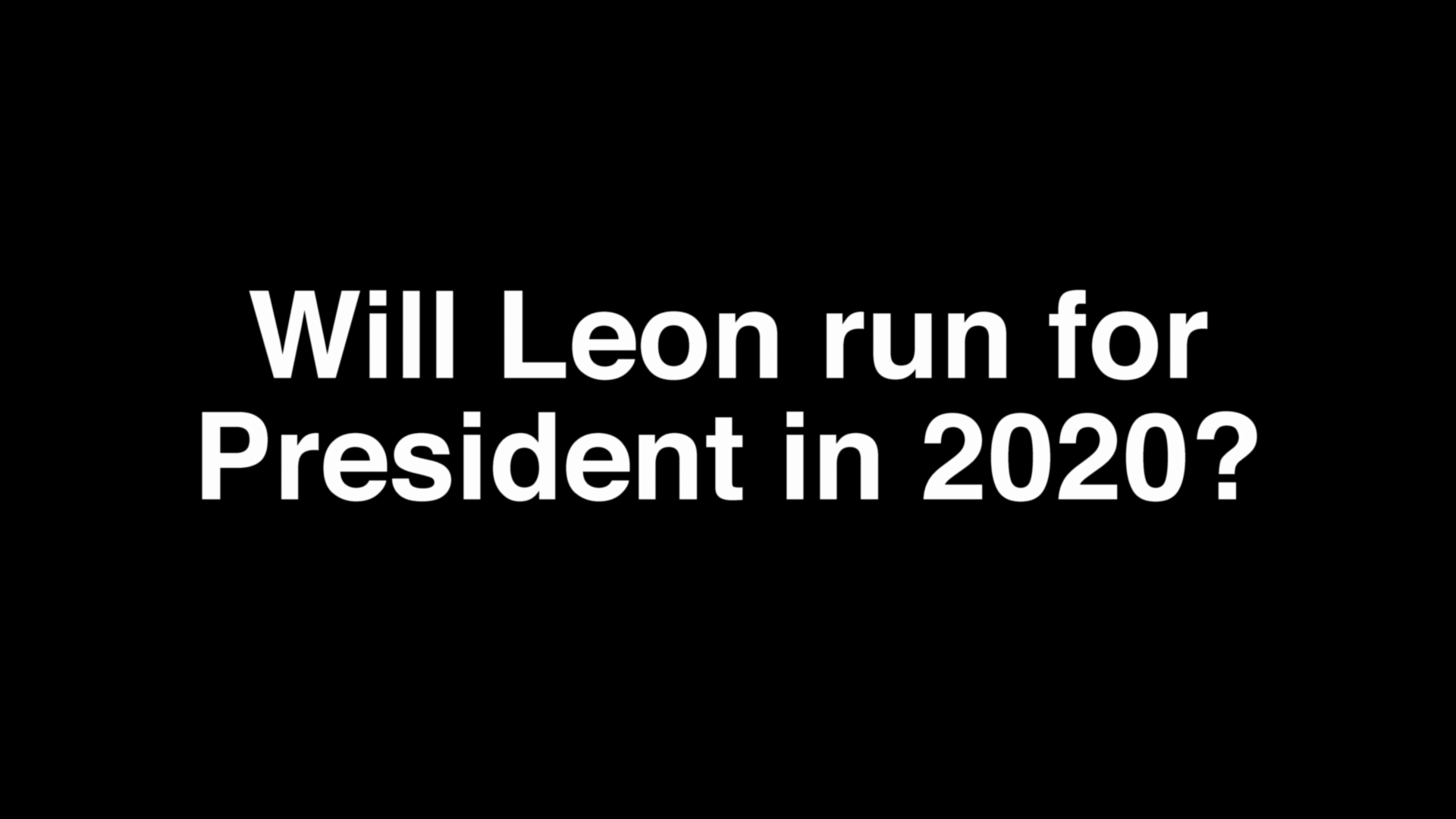 Leon Black for President in 2020