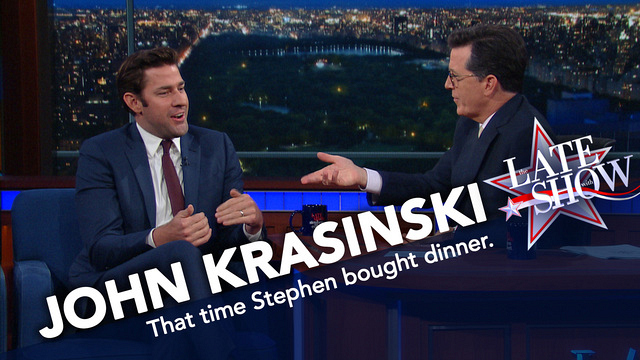 Watch The Late Show With Stephen Colbert: John Krasinski