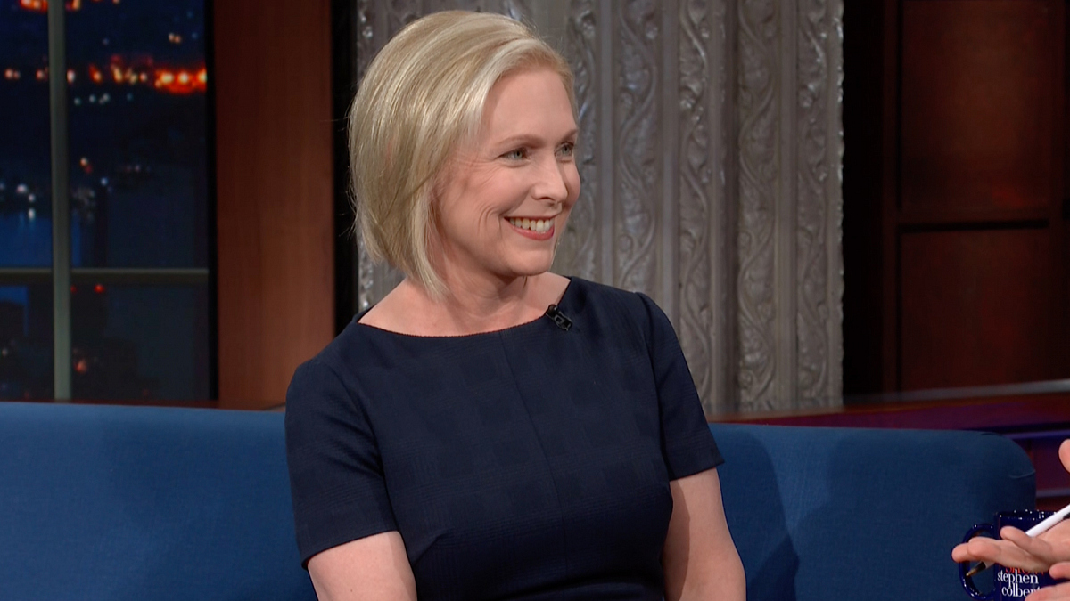 Watch The Late Show with Stephen Colbert: Sen. Kirsten Gillibrand Is A Presidential Candidate