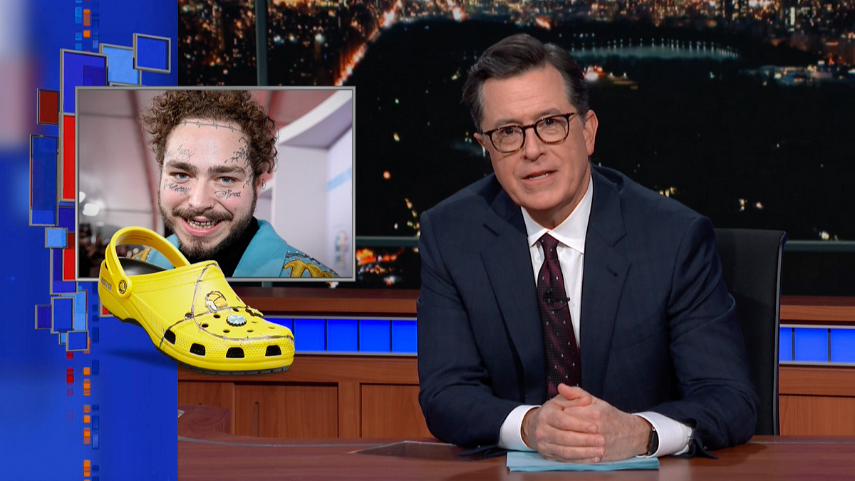 Watch The Late Show with Stephen Colbert: Late Show's Celebrity Spokesmania: Post Malone's Crocs