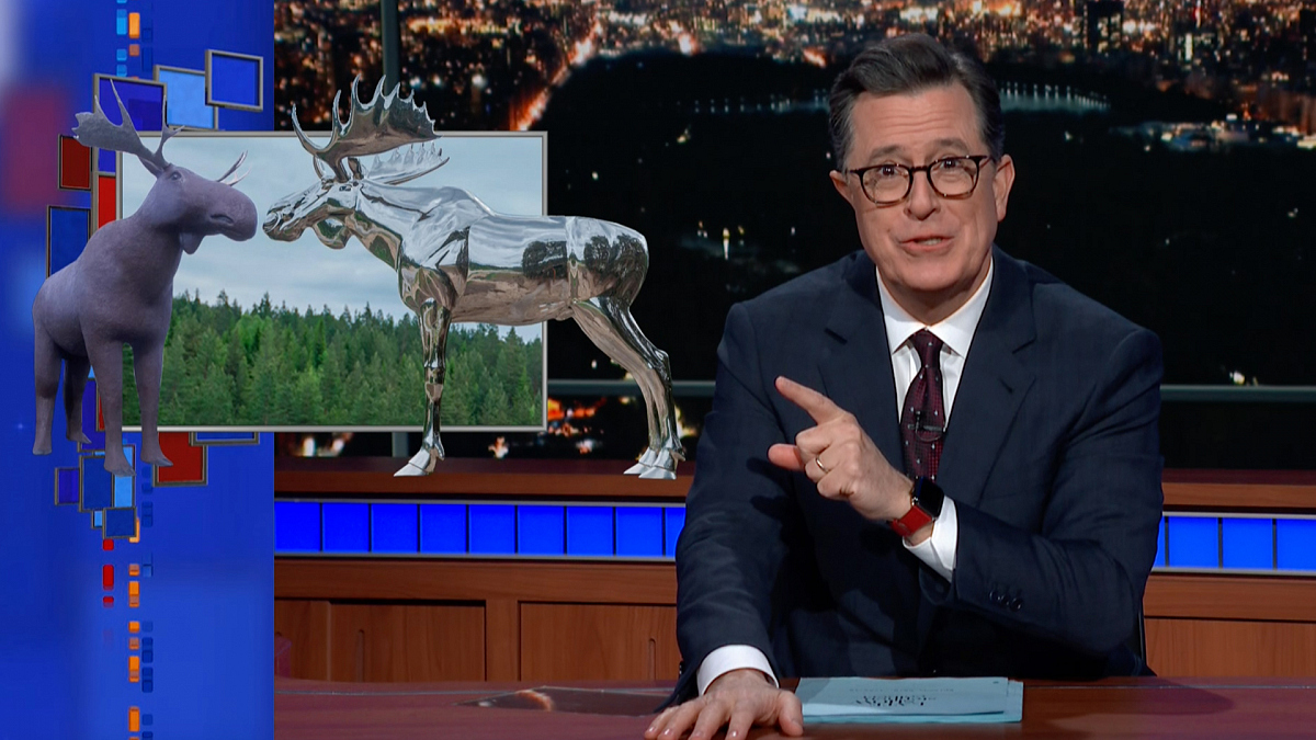 Watch The Late Show with Stephen Colbert: Meanwhile... Canada Moose Vs. Norway Moose