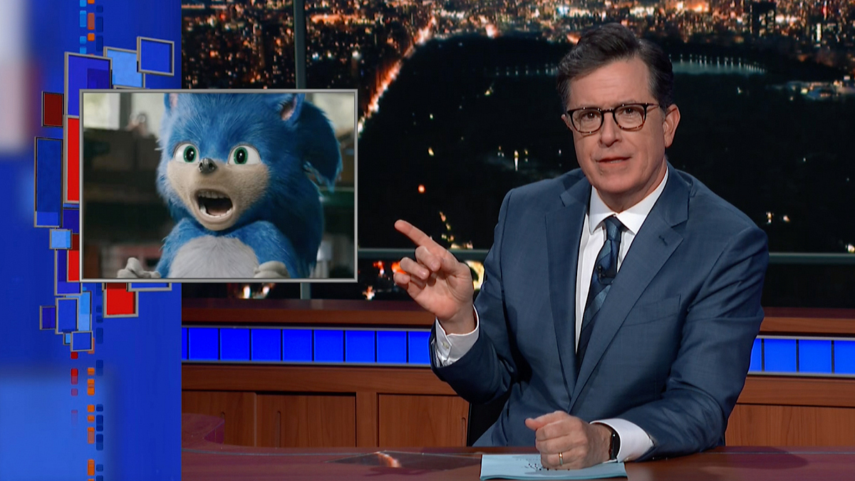 Watch The Late Show with Stephen Colbert: Meanwhile... Sonic The Unsettling Hedgehog