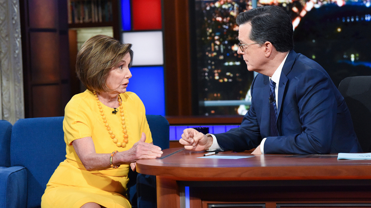 watch the late show with stephen colbert speaker pelosi