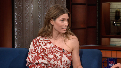 The Late Show with Stephen Colbert - Jessica Biel's Emmy Nomination Moment