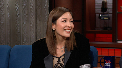 """The Late Show with Stephen Colbert - Constance Wu Explains What """"Couture"""" Means"""