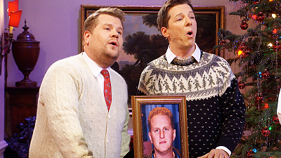 The Late Late Show with James Corden - Michael Ra-pa-pa-port/Little Drummer Boy Parody w/ Sean Hayes