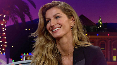 The Late Late Show with James Corden - Gisele Bündchen Is a Certified Chopper Pilot
