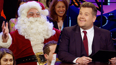 The Late Late Show with James Corden - Santa Claus Visited The Late Late Show!!
