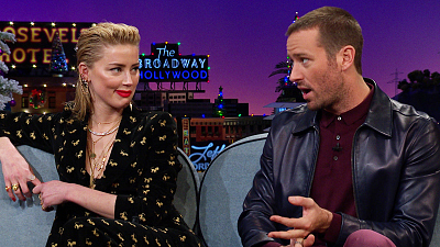 The Late Late Show with James Corden - Amber Heard & Armie Hammer Are Kinda Pyromaniacs