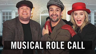 The Late Late Show with James Corden - 22 Musicals In 12 Minutes w/ Lin-Manuel Miranda & Emily Blunt
