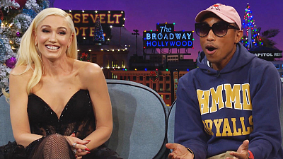 The Late Late Show with James Corden - Pharrell Williams Gave In to Gwen Stefani's Yodeling
