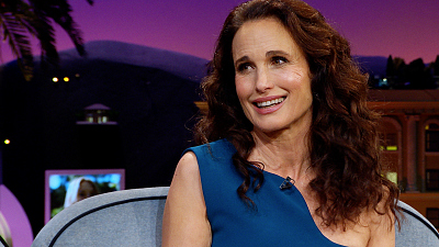 The Late Late Show with James Corden - Andie MacDowell's Close Call w/ A Mountain Lion