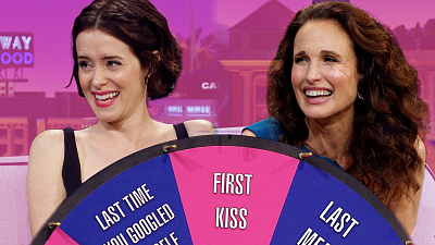 The Late Late Show with James Corden - First/Last with Claire Foy & Andie MacDowell
