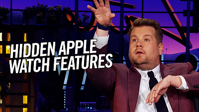 The Late Late Show with James Corden - Apple Watch Hidden Features: Cardi B, Didgeridoo