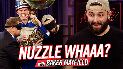 The Late Late Show with James Corden - Nuzzle Whaaa? w/ Baker Mayfield