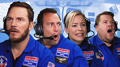 The Late Late Show with James Corden - Astronaut Training w/ Chris Pratt, Elizabeth Banks & Will Arnett
