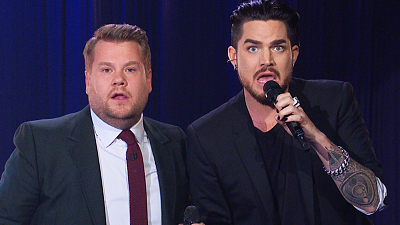 The Late Late Show with James Corden - 'The Show's Ending Now' - Queen Parody w/ Adam Lambert