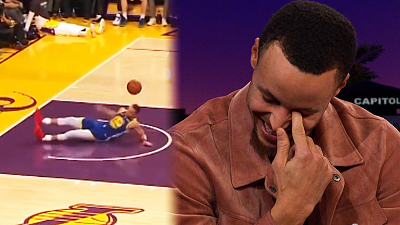 The Late Late Show with James Corden - Stephen Curry Explains His Slip & Airball