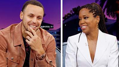 The Late Late Show with James Corden - Regina King & Stephen Curry Acted in Fast Food Commercials