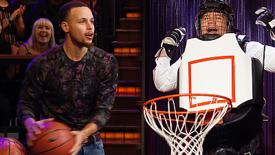 The Late Late Show with James Corden - Human Basketball Hoop w/ Stephen Curry