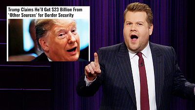 The Late Late Show with James Corden - Trump Is Still Looking for His Border Wall Sugar Daddy