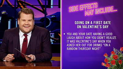 The Late Late Show with James Corden - Side Effects May Include: Valentine's Day First Date