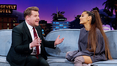 The Late Late Show with James Corden - Ariana Grande Discusses New Milestone & Her Past Year