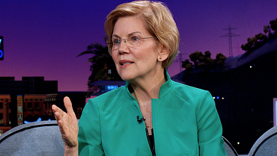 The Late Late Show with James Corden - Elizabeth Warren Reacts to Fellow Democratic Presidential Candidates