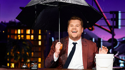 The Late Late Show with James Corden - Celebrity Noses: Roof Leak