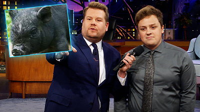 The Late Late Show with James Corden - Animals Riding Animals