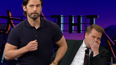 The Late Late Show with James Corden - Milo Ventimiglia Busts Out His Hasty Pudding Lap Dance