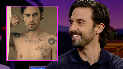 The Late Late Show with James Corden - Milo Ventimiglia Got Tatted Up for a Fergie Video