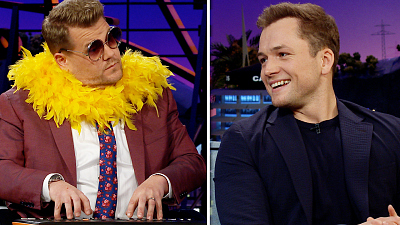 The Late Late Show with James Corden - James That Tune w/ Taron Egerton & Adam Scott