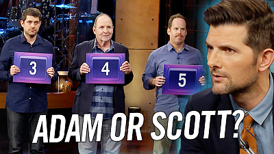 The Late Late Show with James Corden - Can Adam Scott Tell Adams From Scotts?