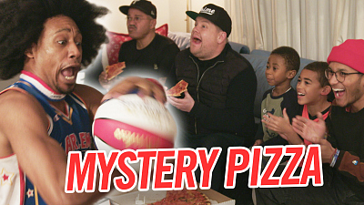 The Late Late Show with James Corden - Mystery Pizza Box w/ Harlem Globetrotters