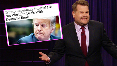 The Late Late Show with James Corden - Donald Trump Exaggerated The Size of His Assets