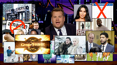 The Late Late Show with James Corden - James Recaps an Action-Packed Winter