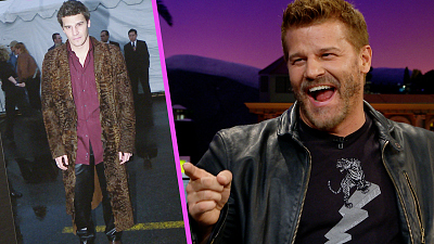 The Late Late Show with James Corden - David Boreanaz Has a Major, Furry Fashion Regret
