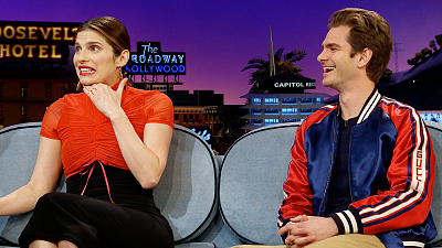The Late Late Show with James Corden - Lake Bell's Husband Nearly Tattooed Andrew Garfield