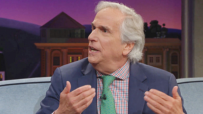 The Late Late Show with James Corden - Henry Winkler Has Received Over 1M Pieces of Fan Mail