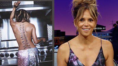 The Late Late Show with James Corden - Halle Berry Is Test Driving Tattoos & Cooking Eggs Topless